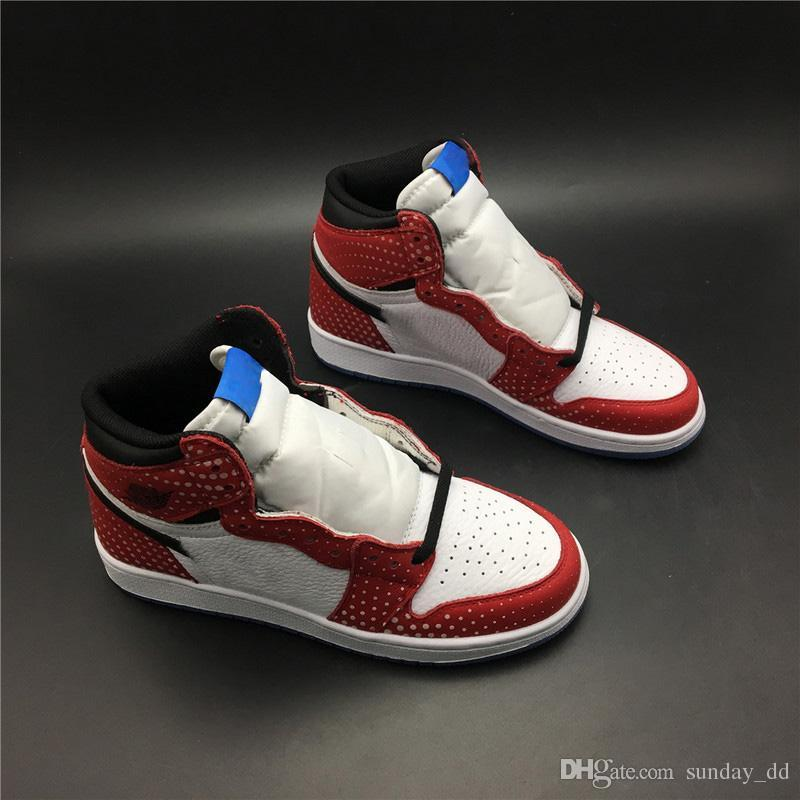 f81b814f5ccbd4 2019 Newest Release 1 High OG Chicago Crystal Men Basketball Shoes Gym Red  Spider Blue Red White Top Quality 1S Man Sports Sneakers 555088 602 From ...
