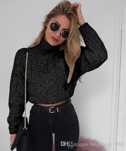 huge discount 759b6 fdd95 Maglioncino Top Donna Maglione Dolcevita Inverno Top per Donna Vestiti  Maglione lavorato a maglia Cashmere Manica lunga Moda 2018 Inverno