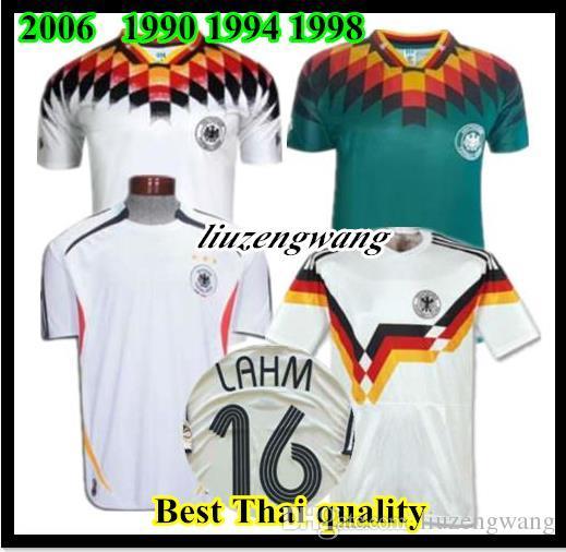 55589744b 2019 1990 1994 1988 Germany Retro Version VINTAGE CLASSIC Soccer Jersey  KLINSMANN Matthias Home Away 2006 Shirts KALKBRENNER JERSEY From  Liuzengwang