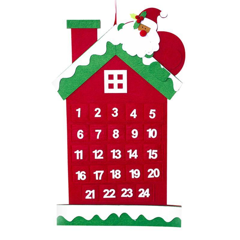 Calendario Dellavvento In Feltro.1pc Calendario Dell Avvento Hanging Countdown Feltro Calendario Decorativo Avvento Natale Per Decorazioni Natale