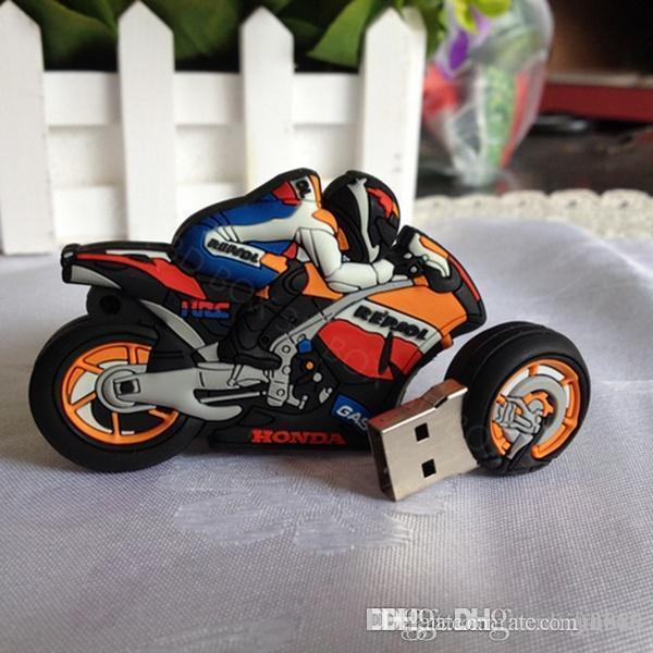 Design Real Capacidade U disco memoria pen drive chaves do carro chaveiro presente USB2.0 16GB ~ 64GB