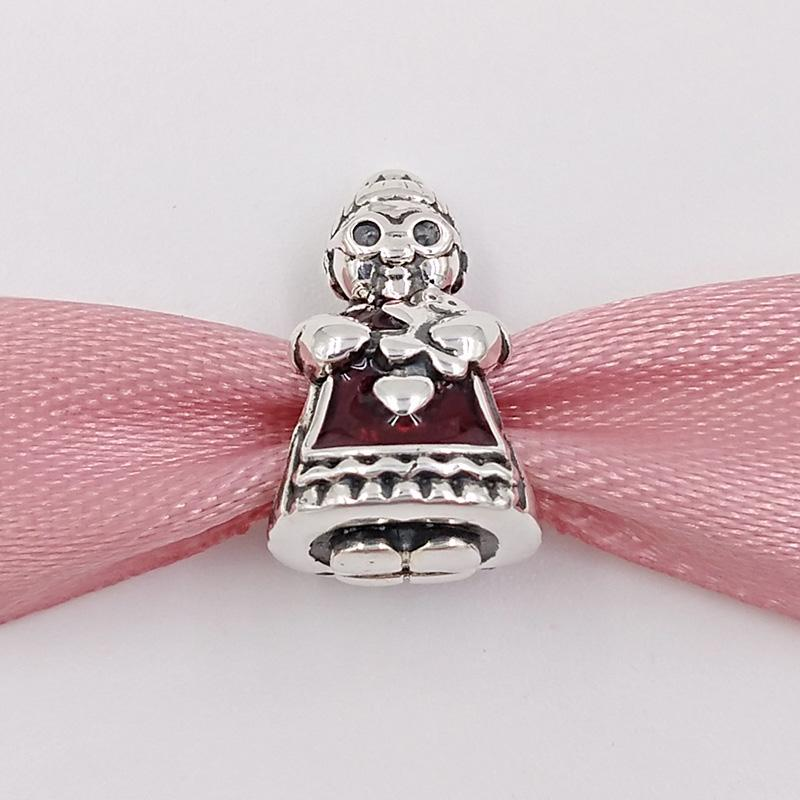 Christmas 925 Sterling Silver Beads Mrs Christmas Charm Fits European Pandora Style Jewelry Bracelets & Necklace 792005EN07 Winter Gifts