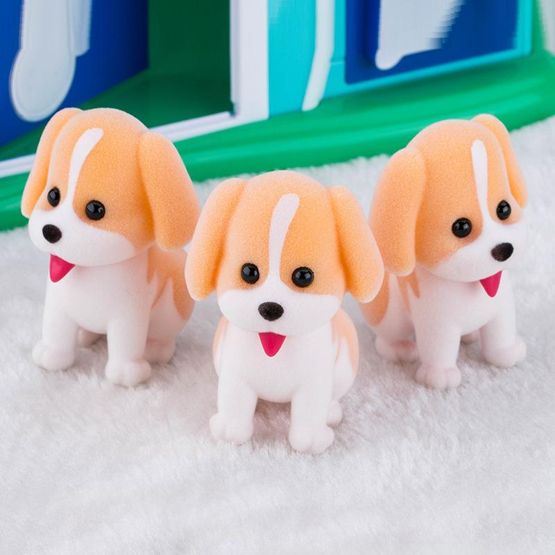 2019 New Toys Kawaii Cartoon Silicone Dolls Dog Home Car Desk Decoration Small Accessories Pendant Children New Year Gift