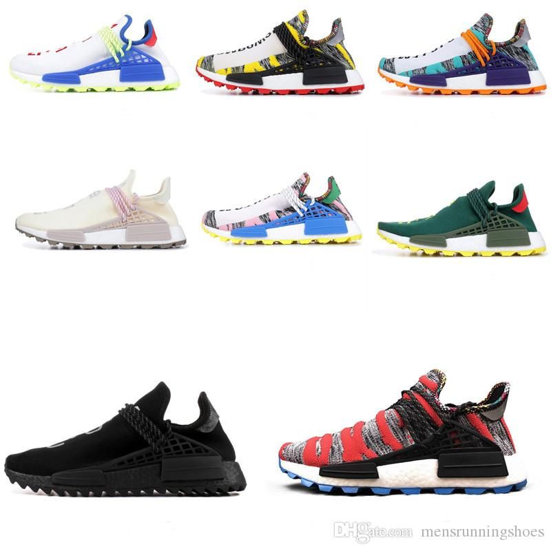 2eb8df52f07a 2019 Nmd Human Race Hu Trail X Pharrell Williams Nerd Men Running Shoes  Black White Cream SOLAR PACK Mens Trainers For Women Sports Sneaker From ...