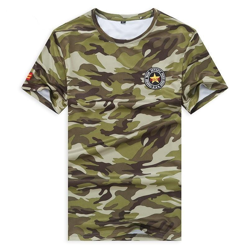 NEW Military Camouflage T-shirts Brave Men Army soldier big size Shirt Summer Hot Sale Short Sleeves Sports Tops Tees
