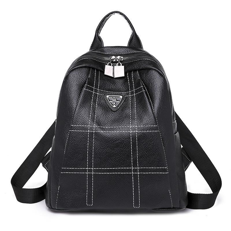 Woman Backpack Both Shoulders Package Korean Fashion Joker Ma am New ... 8d7dd7d8b48dc