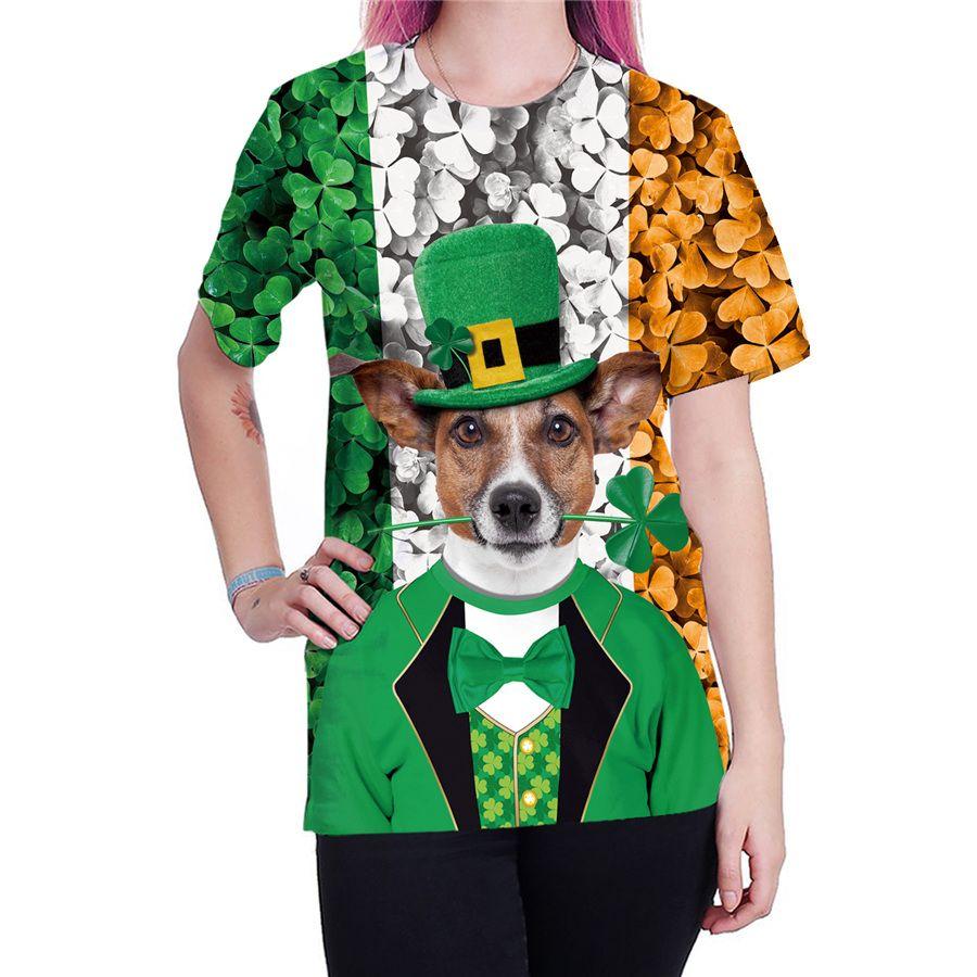 d275f033 Women Shamrocks T-shirts Unisex Novelty Short Sleeve Female St. Patrick's  Day Tops Summer Fashion Ladies Leprechaun Ireland Blouses