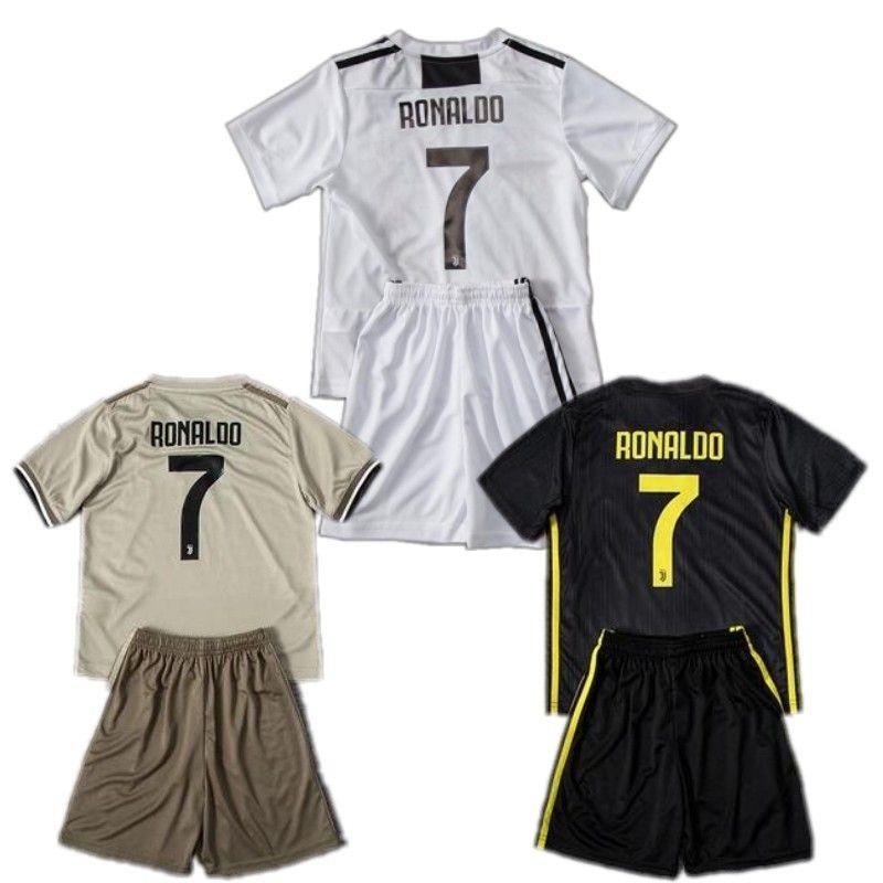 buy popular 85434 46939 18/19 Juventus Kids Kit 2019 #7 RONALDO DYBALA MARCHISIO Home Away Soccer  Jersey Short Top PJANIC BONUCCI Child Third Football Shirt
