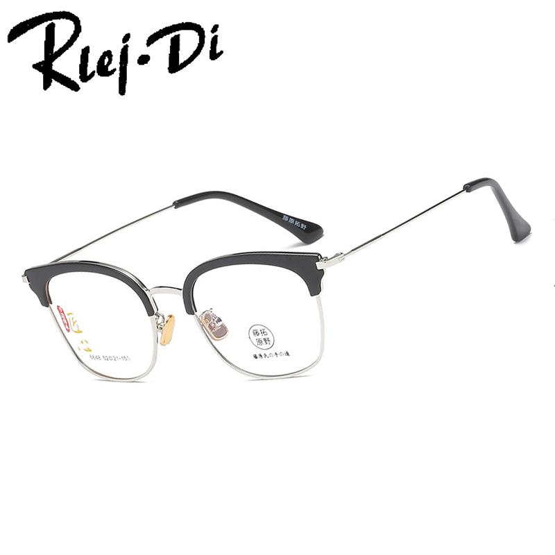 56344bbde3d 2019 NZ010 Fashion Metal Half Frame Glasses Frame Retro Woman Men Reading  Glass Clear Lens Computer Eyeglass From Taihangshan
