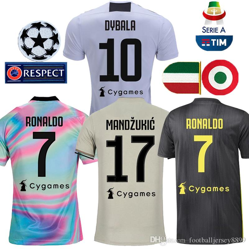 ce83c58e6f9 2019 RONALDO DYBALA 18 19 HIGUAIN Soccer Jersey Juventus Football Shirt  MANDZUKIC CHIELLINI Camiseta 2018 2019 MARCHISIO BERNARDESCHI Maillot From  ...