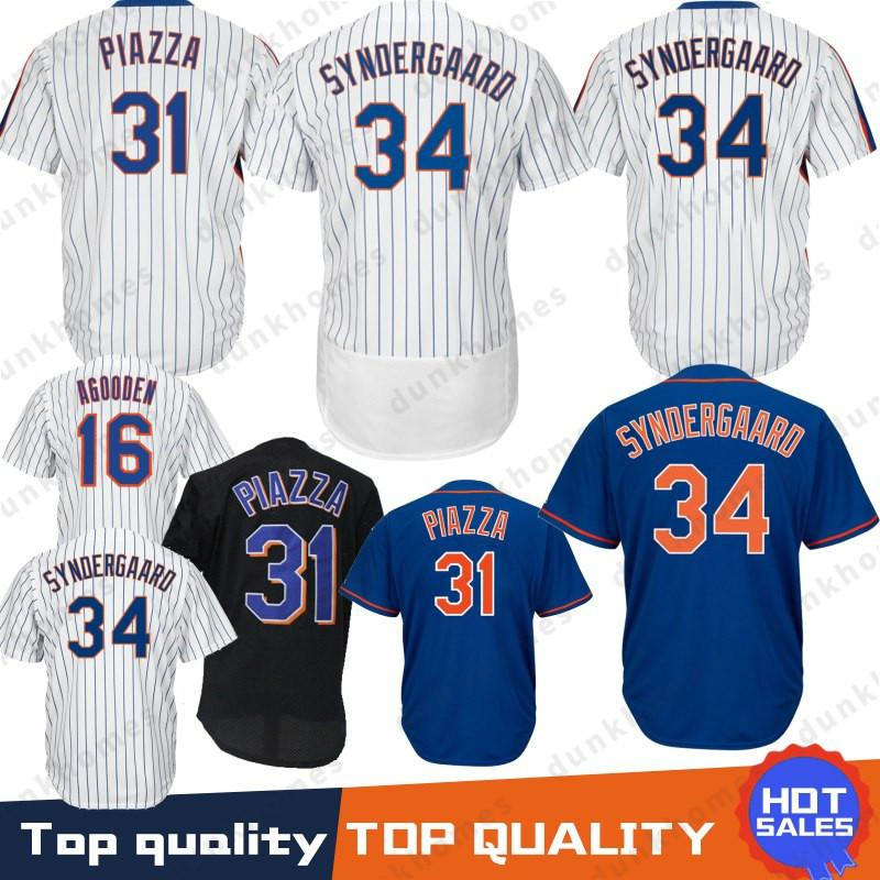super popular d5960 0de60 Stitched 17 Keith Hernandez New York Mets jersey 16 Dwight Gooden 31 34  Noah 52 Yoenis Cespedes 18 Darryl Strawberry 48 Jacob DeGrom