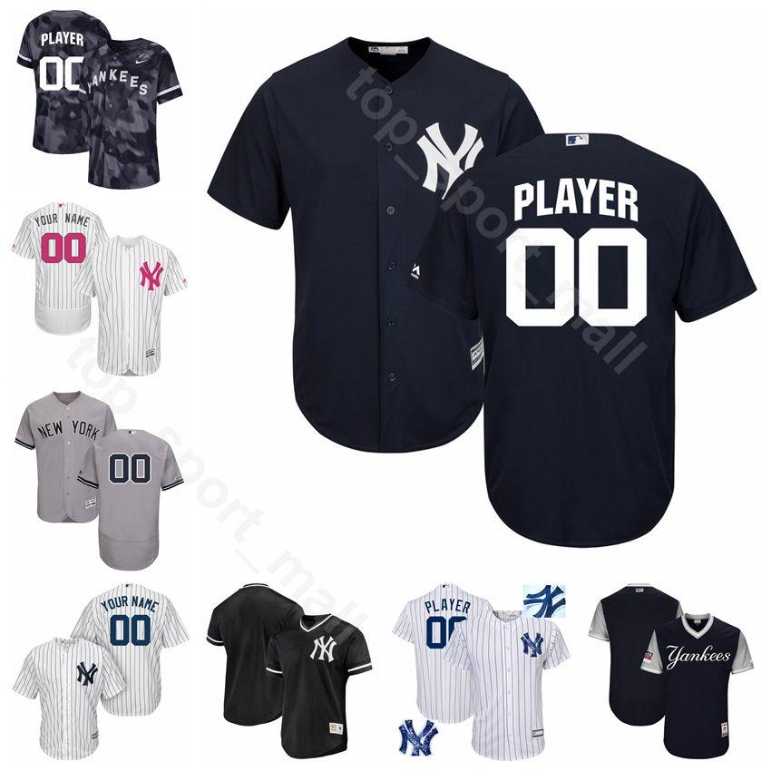 big sale 013d2 a63d9 New York Baseball Yankees 2 Derek Jeter Jersey 3 Babe Ruth 7 Mickey Mantle  4 Lou Gehrig Joe DiMaggio Mariano Rivera Custom Name
