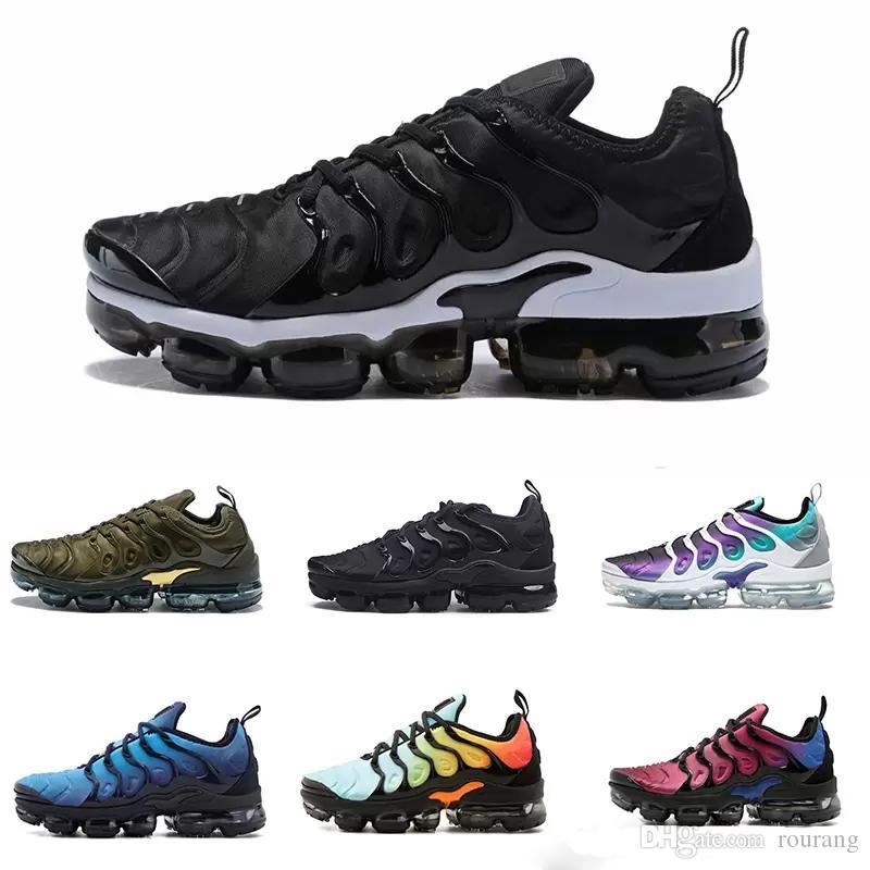 competitive price 3b669 416a8 Acheter Nike TN Plus Vapormax Air Max Airmax 2018 New TN Plus Chaussures De  Course Classique Chaussures De Course En Plein Air Tn Noir Blanc Sport  Shock ...