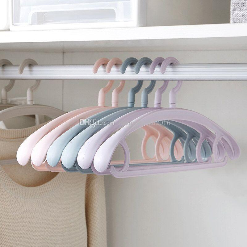 Non Slip Clothes Hanger Closet Coat Organizer Thick Plastic Clothing Sock Rack Drying Holder for Adult