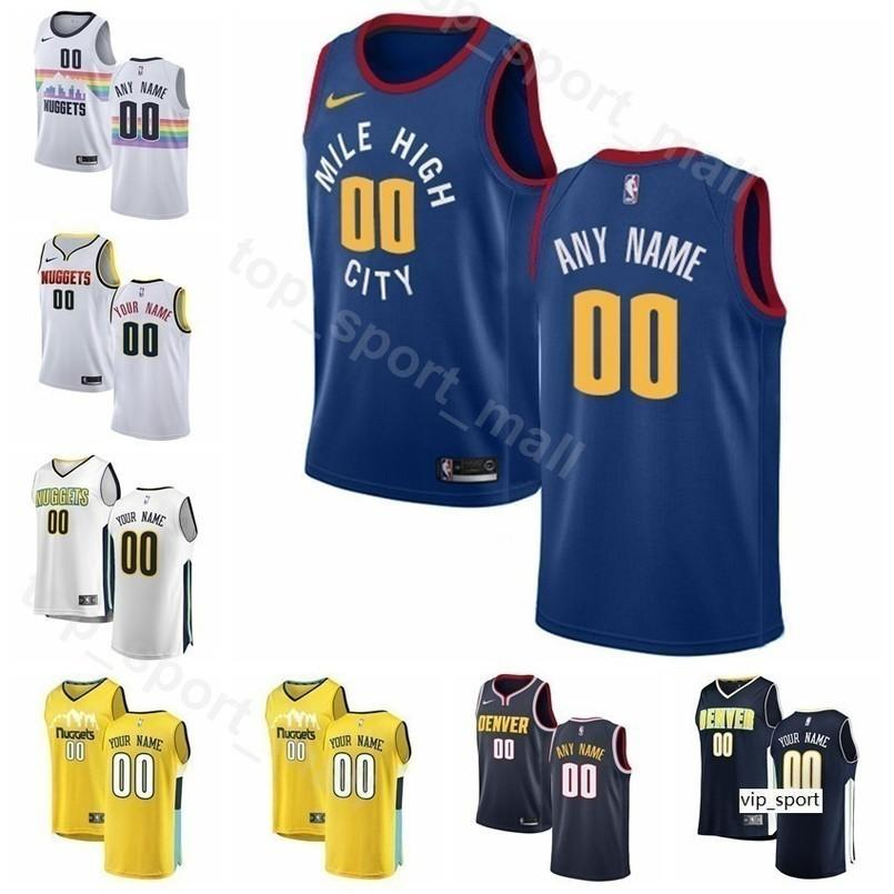 lowest price 00674 7c04d Print Man Kids Woman Denver Basketball Nuggets Will Barton Jersey Malik  Beasley Monte Morris Trey Lyles Mason Plumlee Shirts