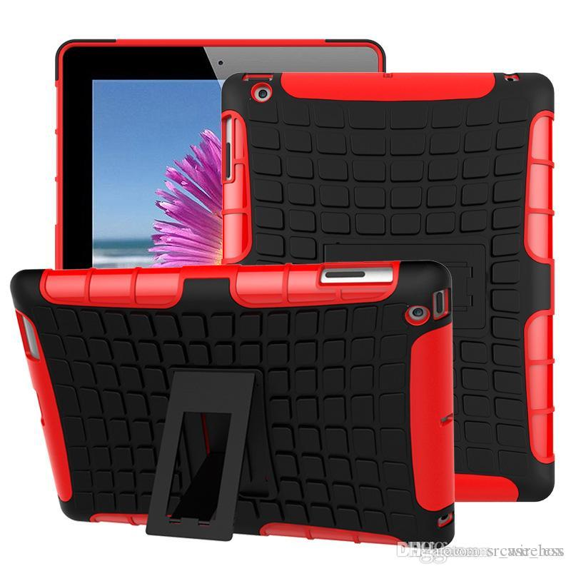 Hybrid Kickstand TPU+PC Rugged Armor Tablet Case Cover for ipad Mini 1 2 3 4 with Kickstand