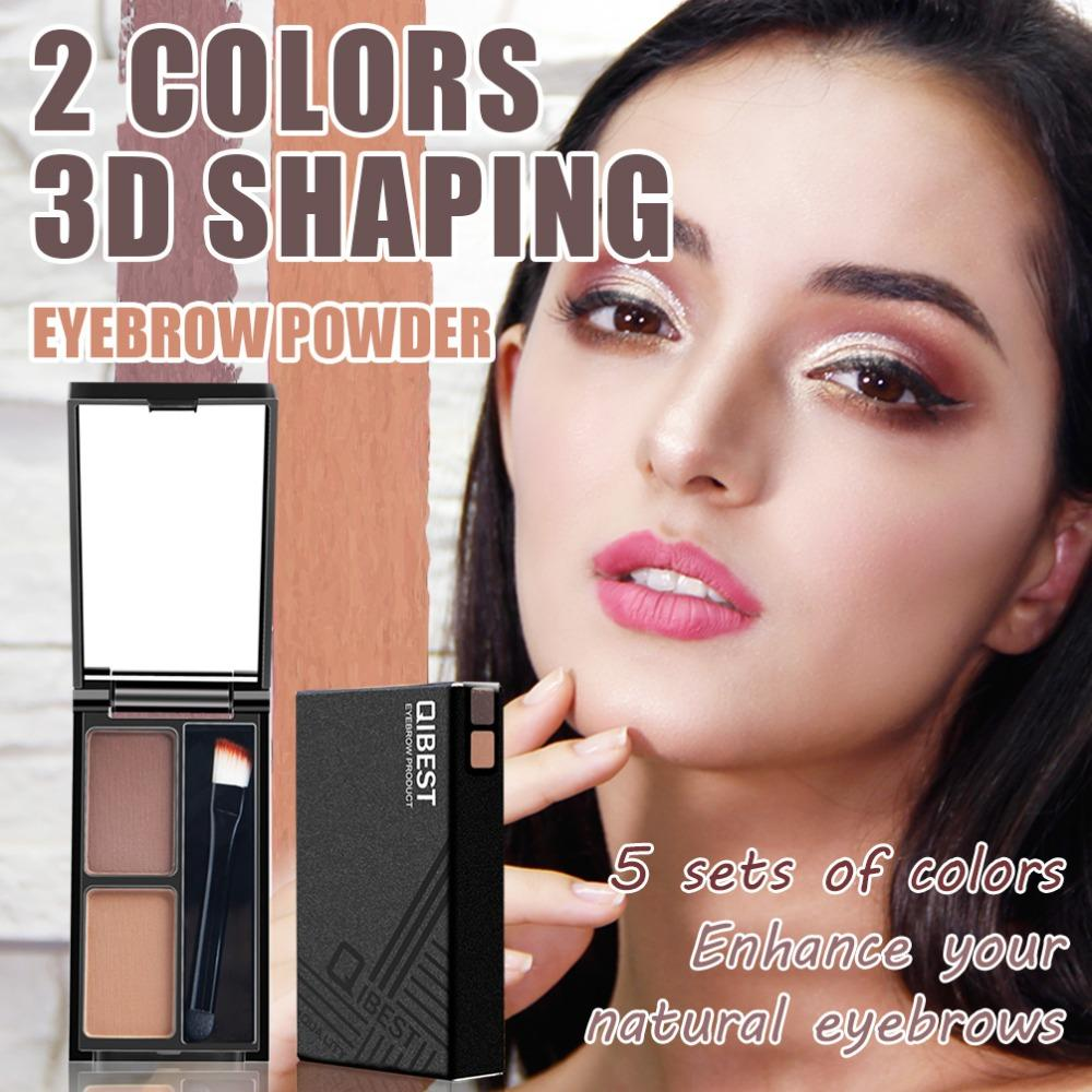Eyebrow Enhancer Makeup Waterproof Eyebrow Powder Palette With Brush