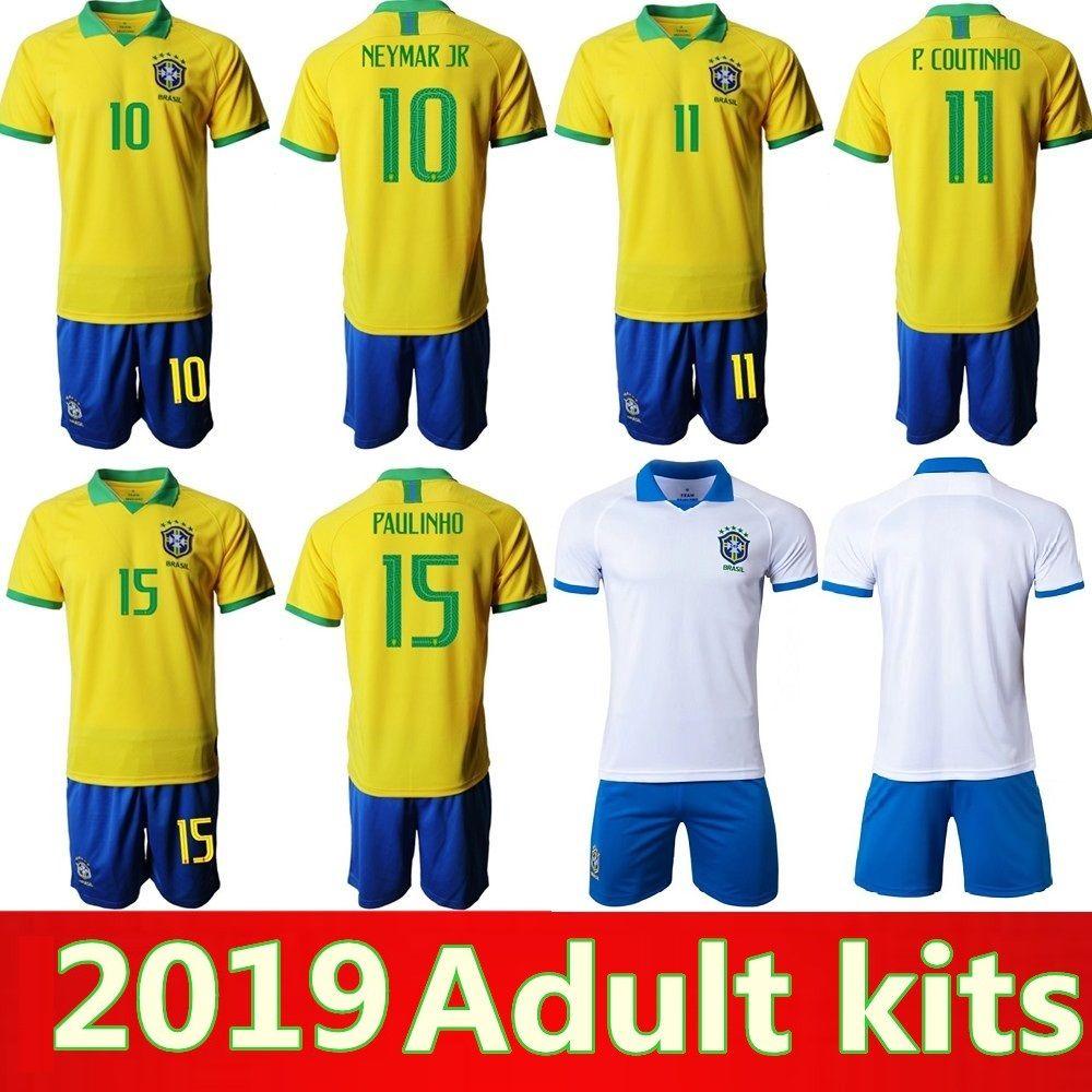 16e2f10f0 2019 Copa America Brazil Adult Kits Soccer Jersey 19 20 PAULINHO G ...