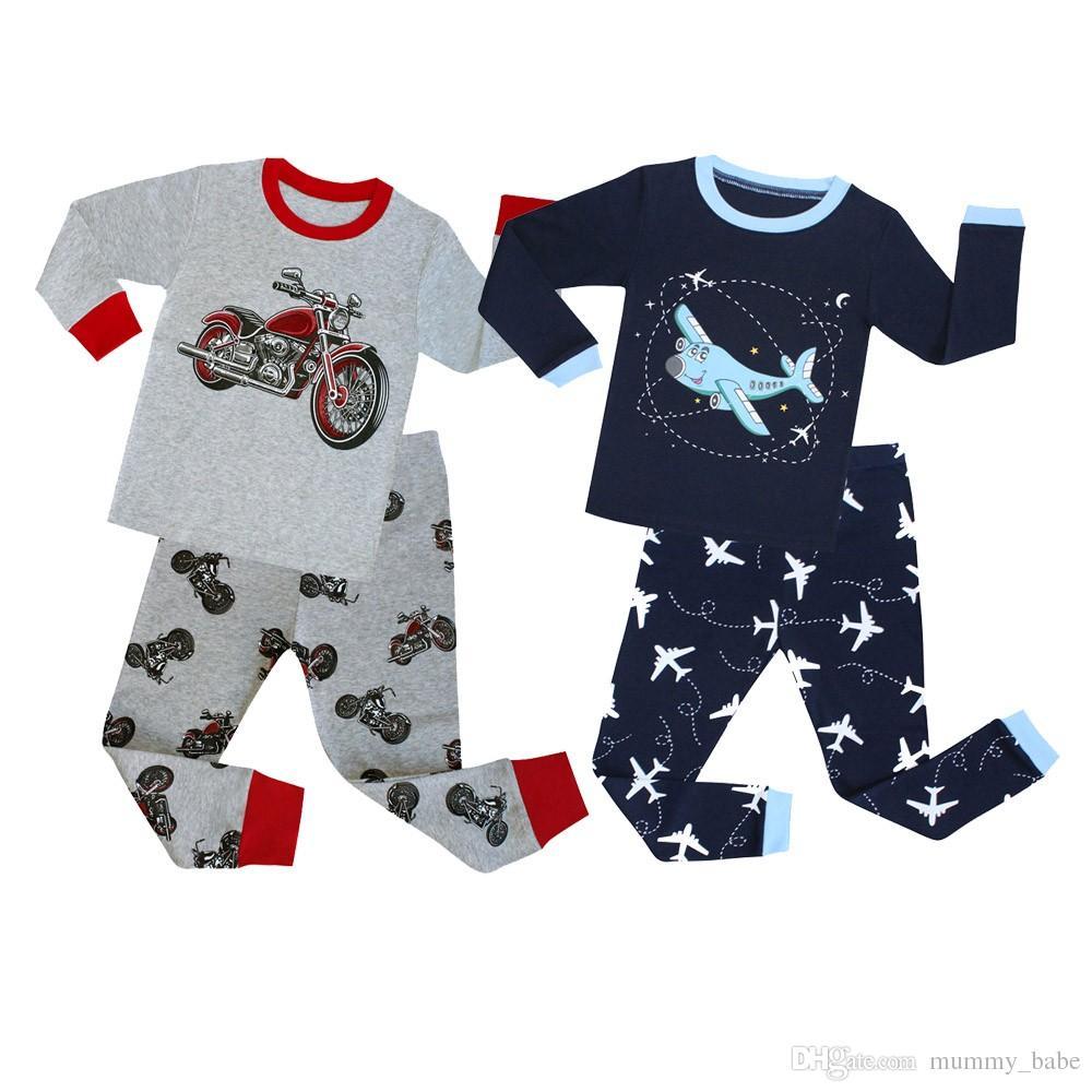 16eff40023 Spring Autumn Full Sleeve Cotton Boys Sleepwear Kids Airplane Pyjamas  Children Baby Girls Pajamas Pijama Unicornio Infantil PJS Toddler Pajamas  Boys Kids ...