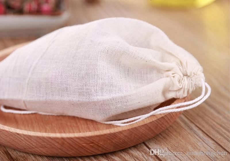 hot sale 10*15cm pure cotton foot bath bags for gauze marinade fragrant steamed wormwood leaves herbal foot bubble bags