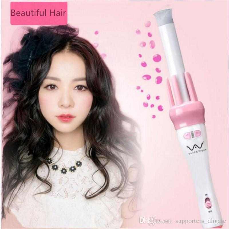 Drop Hair Curler Vivid & Vogue Ceramic Automatic Curling wand Iron Electric Professional Spiral Instant Heat Wavy Curl Styler Styling Tools