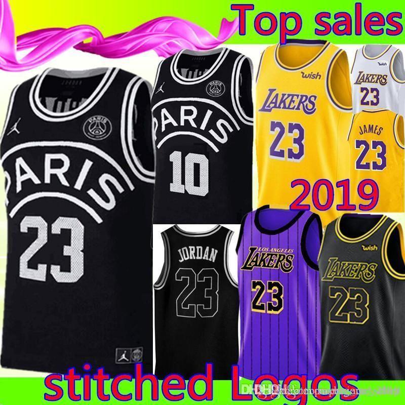 new concept a431e dd965 Bulls 23 Michael AJ NEYMA 10 JR Black Jersey Los Angeles Laker 23 LeBron  James city Basketball Jerseys Cheap sales