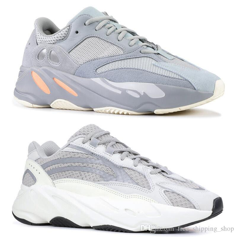 big sale e4c0b baa54 Hot INERTIA 700 Kanye West Wave Runner Static 3M Reflective Mauve Solid  Grey Sports Running Shoes Men Women Sports Sneaker Shoes size 36-46