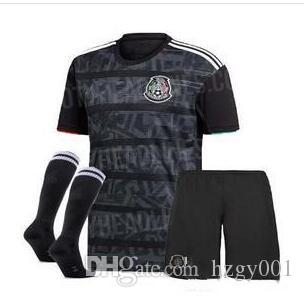 14f74025ac8 2019 Kids Kits 19 20 Gold Cup Mexico Soccer Jersey Black CHICHARITO H. LOZANO  Youth Children Football Jerseys Set Shirts From Hzgy001
