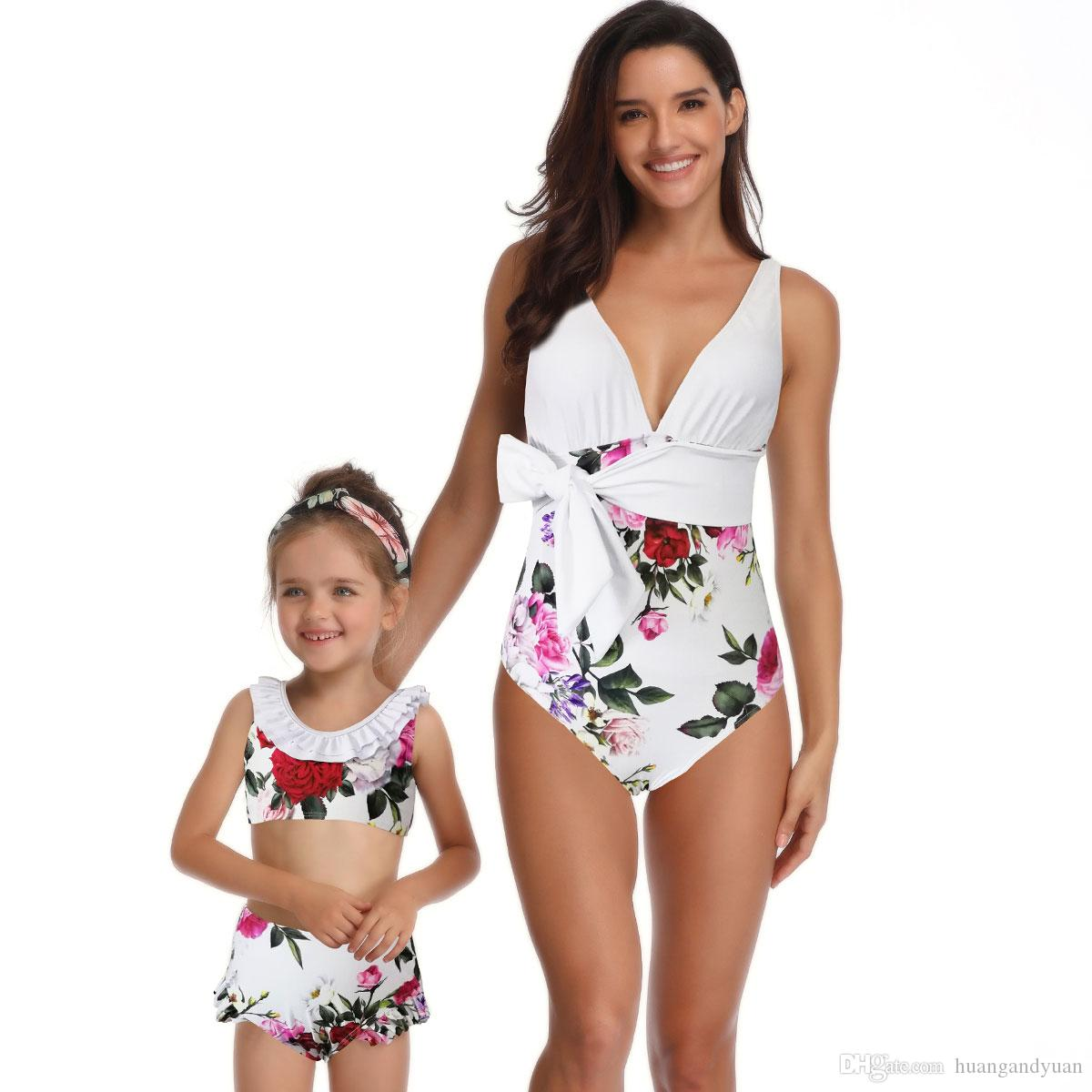 ad5000732dcd9 Parent child design women girl swimwear bikinis summer one jpg 1200x1200  Iraq girls swimsuit