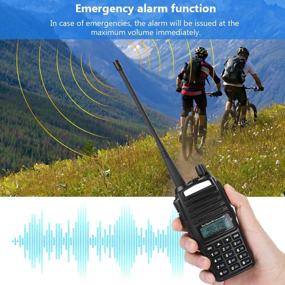 UV-82 128CH Walkie Talkie 5W UHF VHF FM LED VOX DTMF Two Way Radio 110-240V