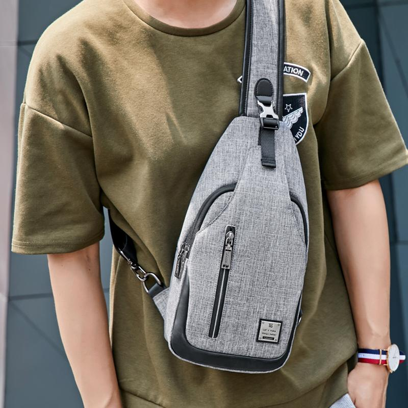 22685dc65 2019 New Oxford Crossbody Bag Men Messenger Bags Waterproof Sling Chest One  Shoulder Bag Sports And Leisure For Men Present Black Handbags Lunch Bags  For ...