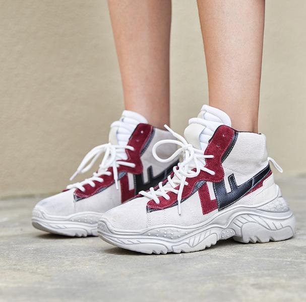 91dd2f84be9e3 Compre Zapato Vulcanizado Para Mujer Zapatos Casuales Para Mujer Zapatillas  De Deporte Negras Ocio Zapatos Con Suela Gruesa Pisos Con Cordones Cruzados  ...