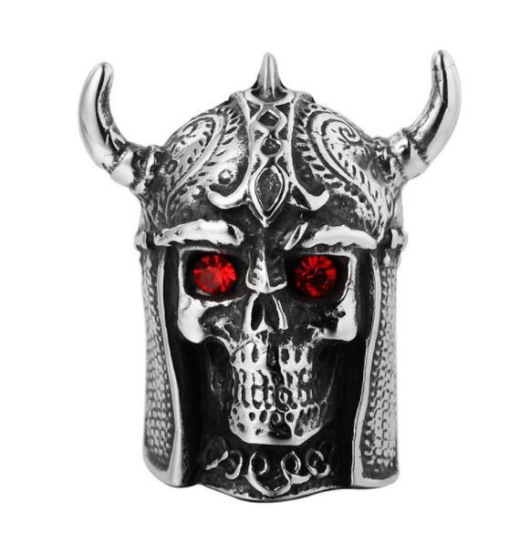 Free Shipping Mixed 5PCS PUNK gothic Gothic Lolita Skull Style Titanium steel Tisco ring Men Band Jewelry Bikers 03