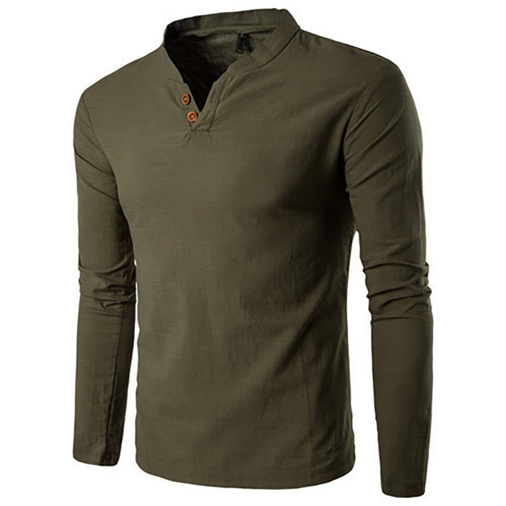 9691ae2b5c81 Clothing Men'S Spring Autumn Winter Men'S Long Sleeve T Shirt Casual Solid  Color Button Top Successful Business Office Top Awesome T Shirts Designs  Cool ...