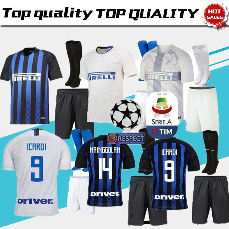7113be264 18 19 Inter Home Kits Soccer Jersey CANDREVA ICARDI EDER KONDOGBIA ...