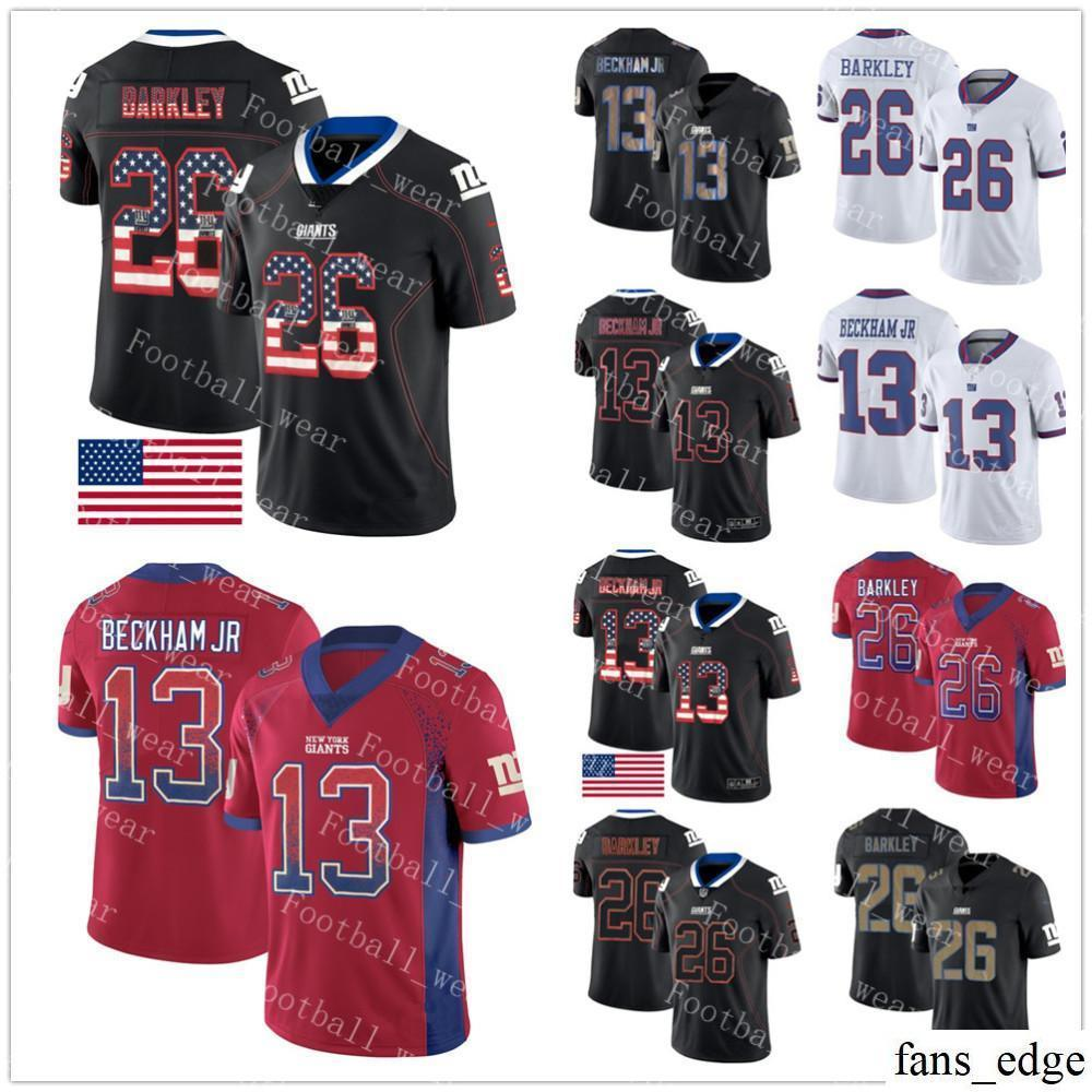New 2018 New York Giants Jersey 13 Odell Beckham Jr 26 Saquon Barkley 10  for sale