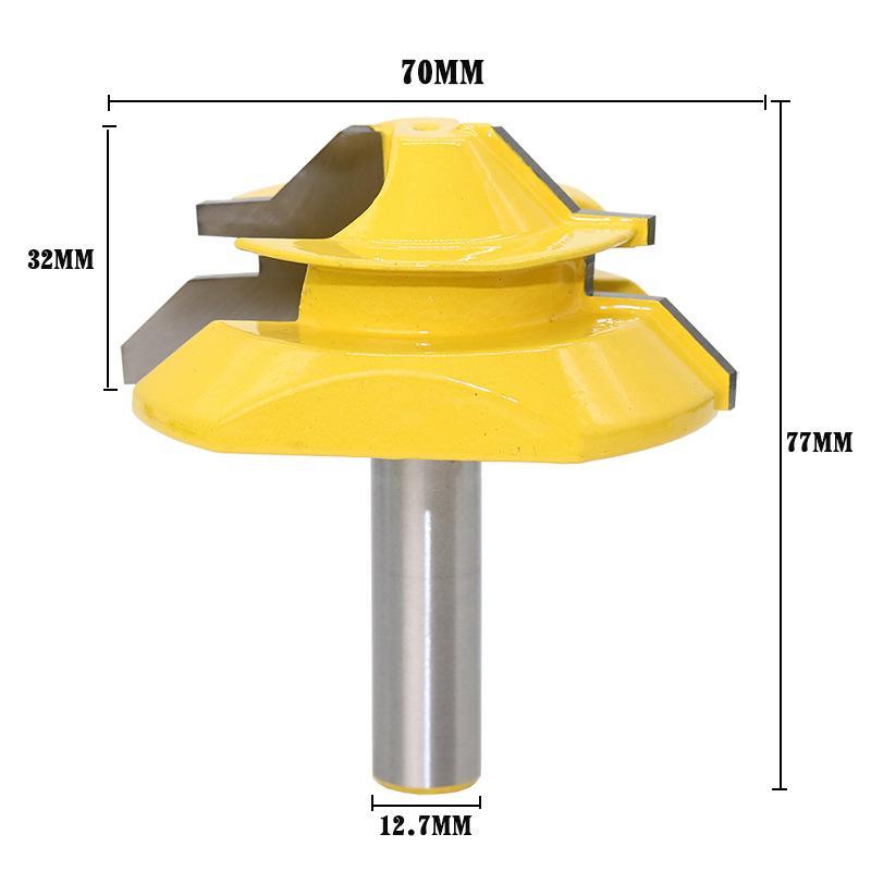 2019 1 2 Shank 45 Degree Tenon Router Bit 12 7mm Wood Lock Miter