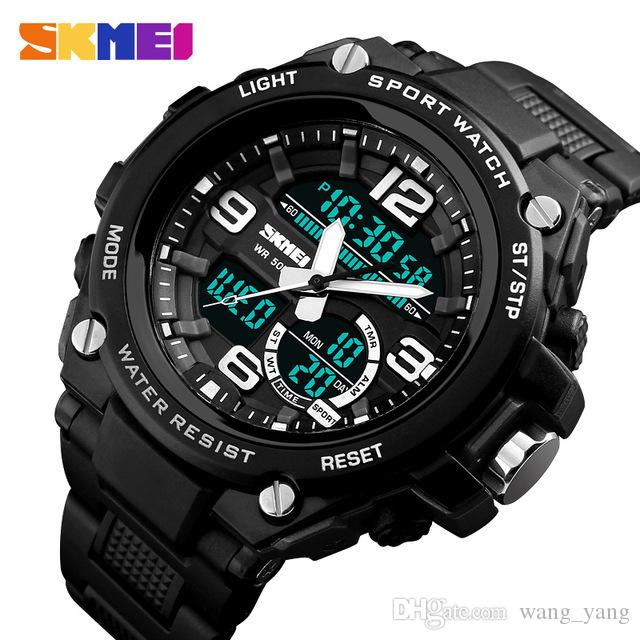 1eaaa6eff SKMEI Men's Watches Top Brand Luxury Military Sport Watch Fashion 50M Waterproof  Men Dual Display Wristwatches Chronograph Relogio Masculino