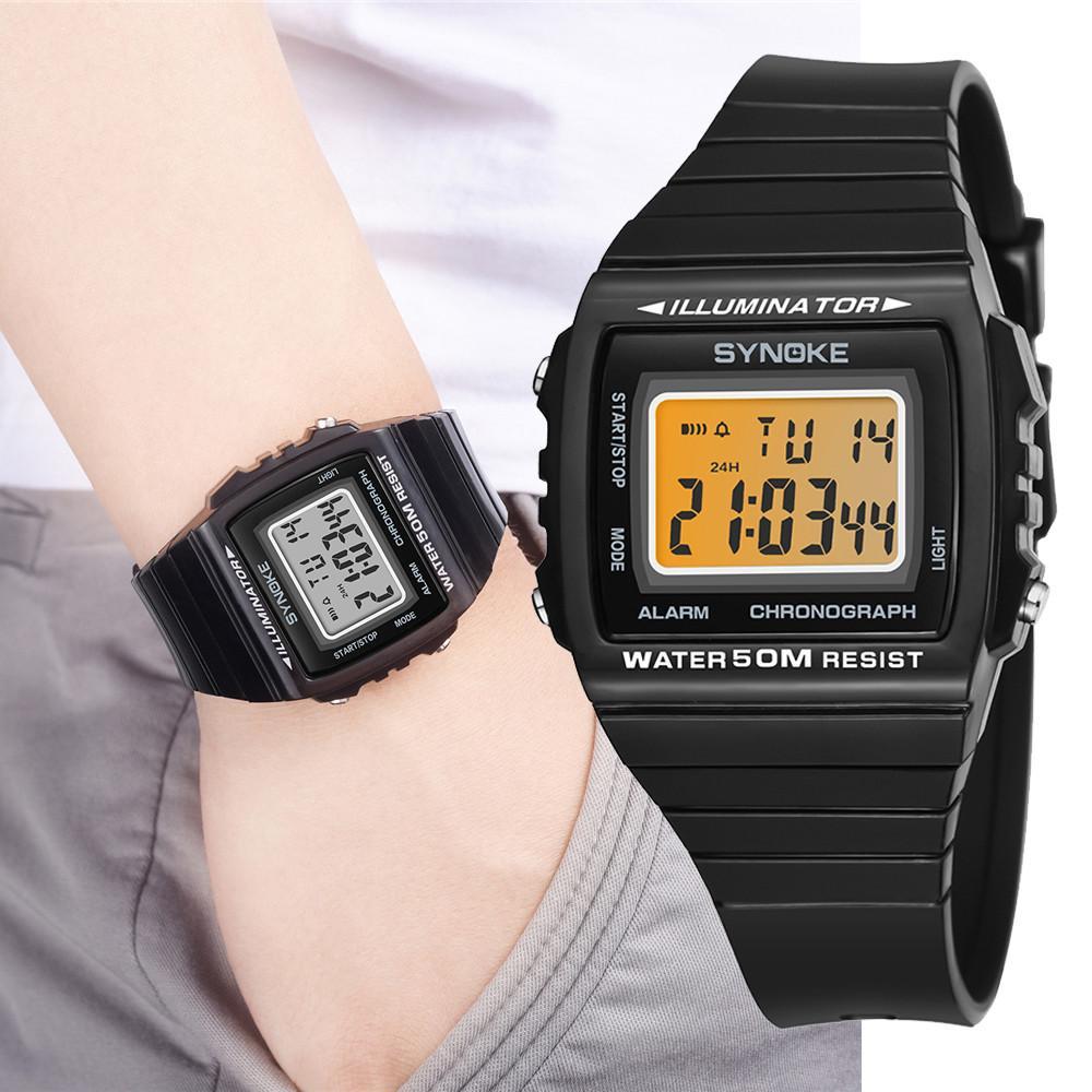 Digital Cronógrafo Doble De Impermeable Reloj Hombres Hombre Deportivos Electrónicos Para Multifunción Pulsera Moda Relojes Tiempo HD9E2I