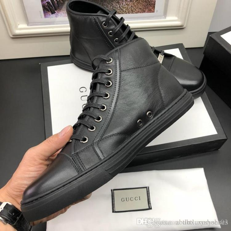 60205bba2a88 High Top Sneaker Men Shoes Winter Luxury Brand Gvccl Casual Shoes Men  Fashion Leather Footwear High Quality Version Mens Shoes Bottes Hommes