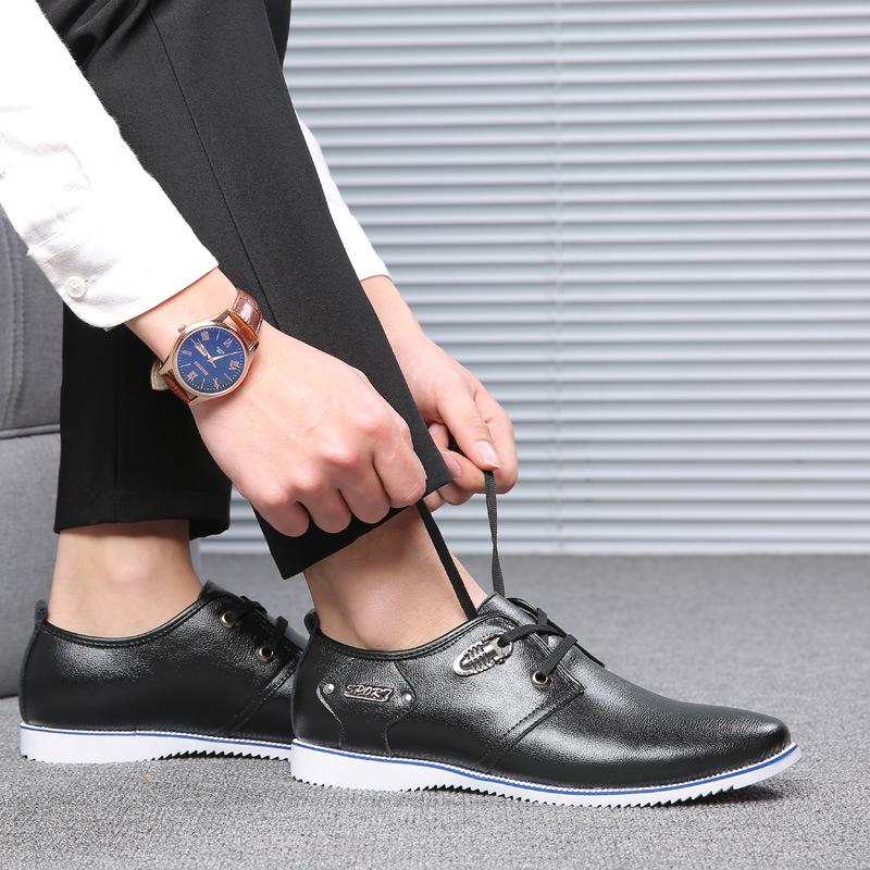 777318c91f1 ZERO MORE Mens Shoes Casual Large Sizes Plaid Round Toe Designer Split  Leather Shoes Men Fashion 2019 Lace Up Shoes Luxury Casual Shoes Casual  Shoes For Men ...