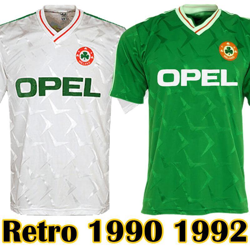 6235b641a 2019 Ireland Retro Soccer Jerseys 1990 Republic Of Ireland National Football  Shirts Ireland Home Green Jersey Away White Kits Tops From Sportshome2018,  ...