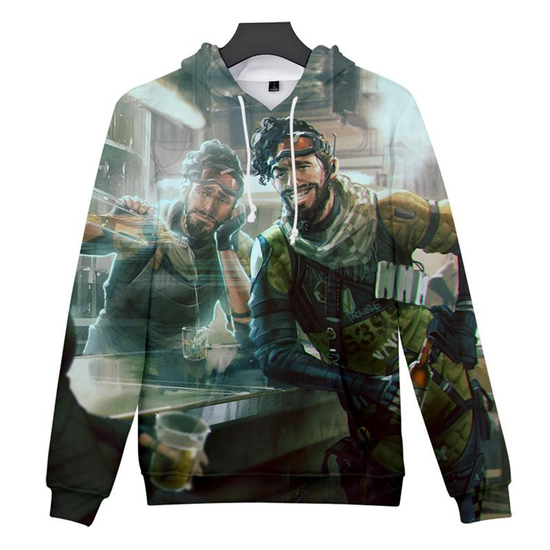 Men and Women 3D Sweatshirt Apex Legends Printed Long-sleeved Sweatshirt 2019 New Men's Long-sleeved Hooded Casual