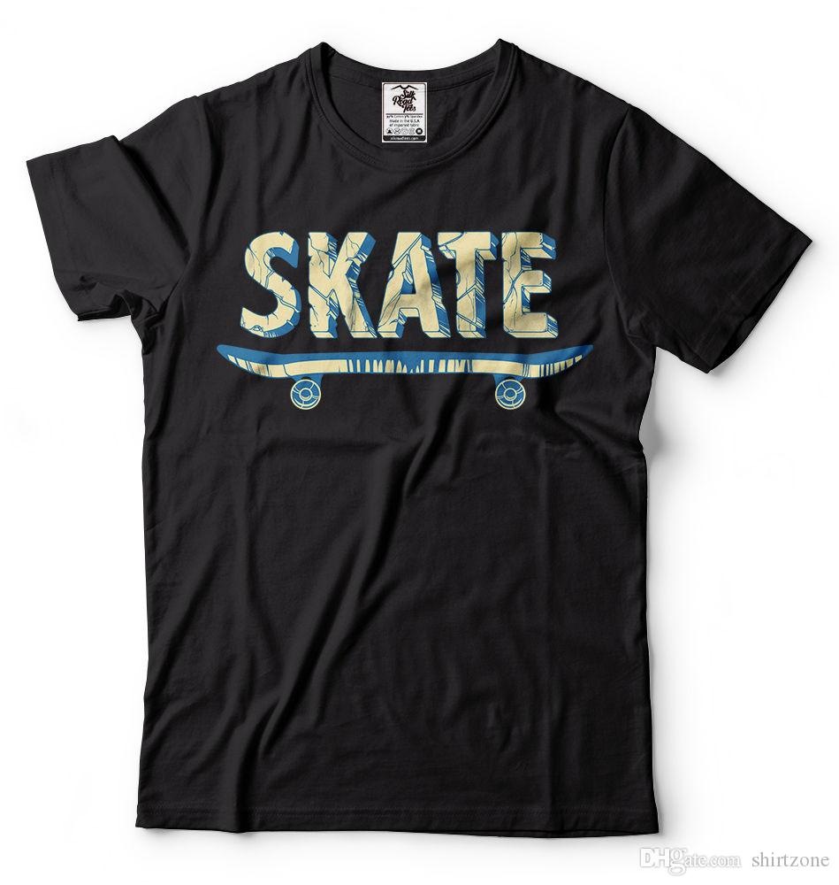 Skate T-Shirt Skateboarding Tee Shirt Sports Activity Skating Shirt Tee Shirt Men Male Digital Direct Printing Custom Short Sleeve Boyfriend