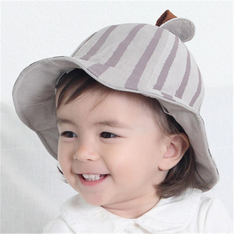 4779346f208 2019 0 2Y Cute Infant Kids Soft Cotton Sun Cap Spring Autumn New Outdoor  Breathable Hats Baby Girls Boys Beach Sunhat Suit From Laurul
