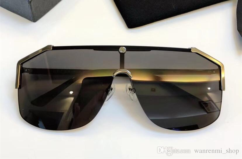 0291 Luxury Sunglasses Large Frame Elegant Special Designer with Rivets Frame Built-In Circular Lens Top Quality Come With Package