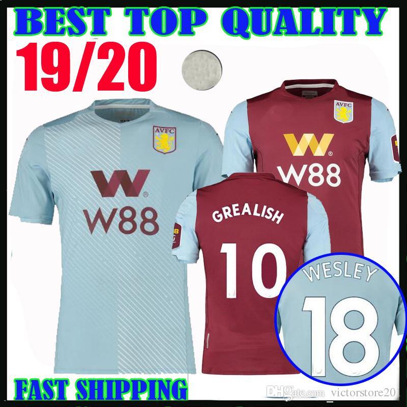 2020 19 20 Aston Villa Soccer Jerseys 2019 20 Home Away ...