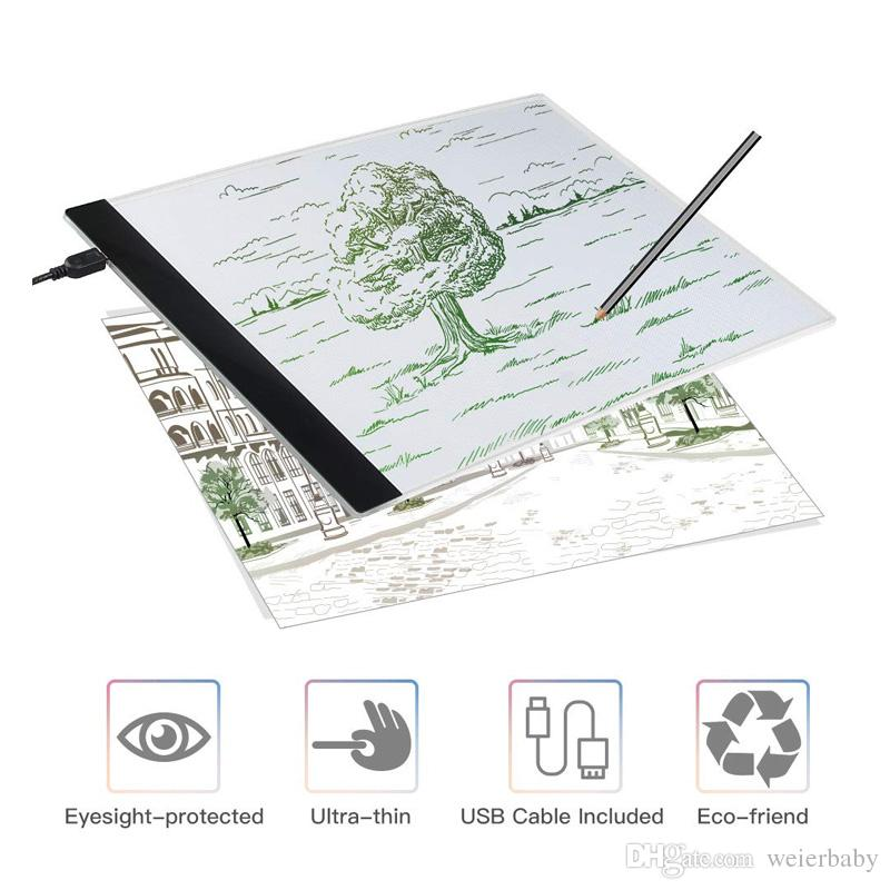 A4 Light Box LED Copy Board Drawing Light Pad with USB Charger Cable Art  Craft Drawing Tracing Tattoo Board