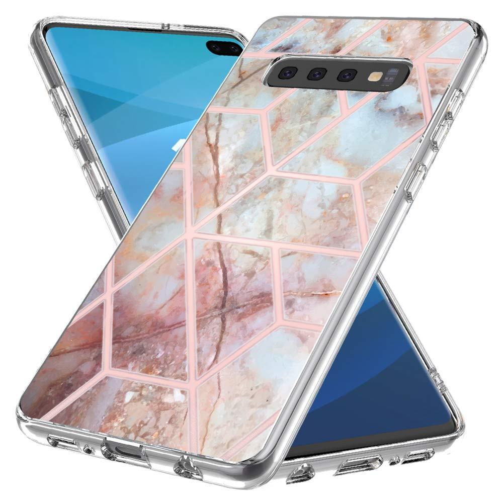 the latest 63d08 336c4 For Samsung Galaxy S10 Plus Case Luxury Marble 3in1 Heavy Duty Shockproof  Full Body Protection Cover Case For Samsung S10 S10 Lite