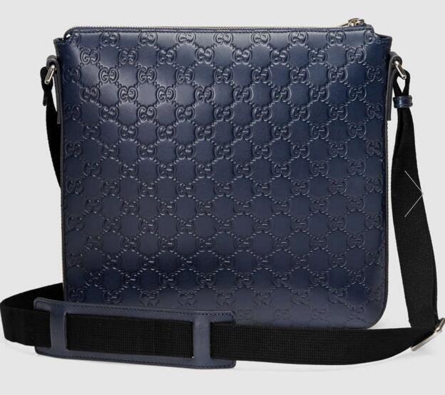 01beda6182b Signature Leather Messenger Men Messenger Bags Shoulder Belt Bag Totes  Portfolio Briefcases Black Handbags Weekend Bags From Jiayick